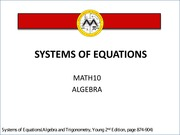 L5 Systems of equations