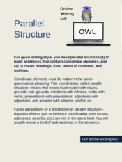 OWL Parallel StructureNEW