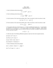 Homework 3 on Ordinary Differential Equations