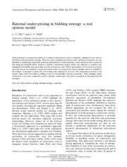 rational under-pricing in bidding strategy-a real options model