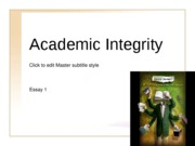 Argument Essay Overview - Academic Integrity