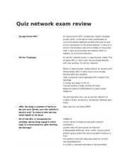 Quiz network exam review