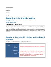 Research and the Scientific Method Lab
