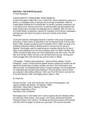 essay hemingway hero