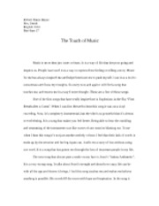 The Touch of Music essay