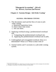 Chapter 02 - Job Order Costing