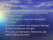 Eating disorders overview slides