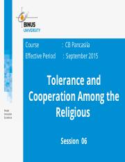 Z00220020220154032Session 06 Tolerance and Corporation Among the Religious