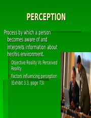 Week 2 slides on Perception