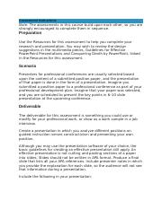 Conference Presentation of a Position Paper Assessment 4.docx
