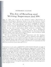 superman and me sherman alexie essay