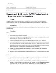 TEMPLATE Photochemical Reaction with Ferrioxalate.docx