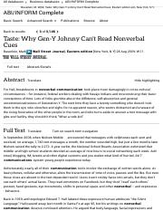 Taste: Why Gen-Y Johnny Can't Read Nonverbal Cues - ABI:INFORM Complete - ProQuest.pdf
