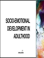 emotional development in adulthood