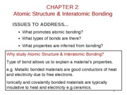 2010-01-20 Chapter 02 Atomic Structure and Bonding