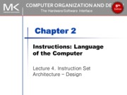 Lec04.Instruction Set Architecture – Design