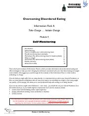 Overcoming Disordered Eating - 04 - Self-monitoring.pdf