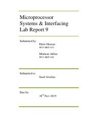 Microp. Lab Report 9