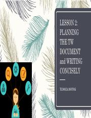LESSON 2 PLANNING TECHNICAL WRITING DOCUMENT, CONCISENESS.pdf