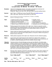 ECEN 215 Syllabus for Summer 2009