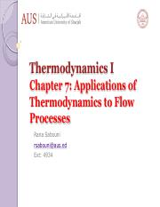 Chapter 7 application of thermodynamics to flow processe-1s