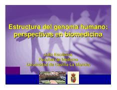 Escribano Julio Estructura Del Genoma Humano Perspectivas