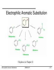 L23-Electrophilic Aromatic Substitution