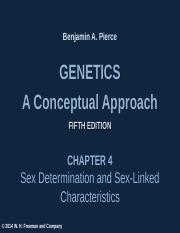 Chapter 4 - Sex Determination and Sex Linkage.ppt