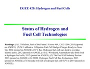 2. Status of H2 and FC Technologies EGEE