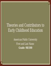CHFD210_Assignment 1_Theories and Contributors to Early Childhood Education.pptx