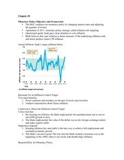 Macro Econ- Chapter 30 Notes
