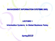 01-LECTURE NOTES 1 - Introduction to MIS