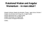 Notes on Angular Momentum