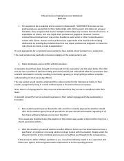 bshs305 ethical scenarios worksheet Kendra manning ethical decision-making scenarios worksheet for each scenario, discuss what the helper should do or should not have done support your answer with statements from the ethical standards for human service professionals (box 96 in ch 9 of the text) that provide guidance for each issue the helper faces.