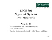 EECE 301 Note Set 8 DT Convolution