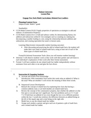 Related Fact Ladder-Math Lesson Plan - Assignment