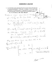 MECH 102 Home work #7 Student Solutions  2012