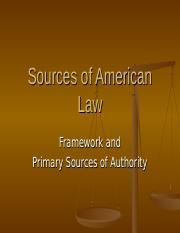 Chapter 5 - Sources of American Law, armstrong.ppt