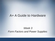 AplusA Guide To Hardware Lecture Note