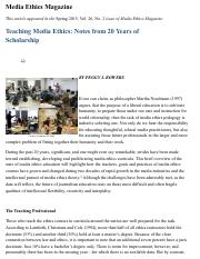 Teaching Media Ethics: Notes from 20 Years of Scholarship - mediaethicsmagazine.com.pdf