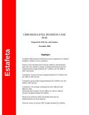 Estafeta High - level Business Case-draft