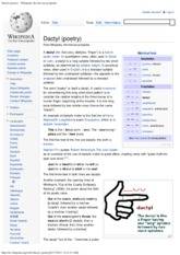 Dactyl (poetry) - Wikipedia, the free encyclopedia