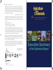 -Agriculture at a crossroads - Executive Summary of the Synthesis Report-2009Agriculture_at_Crossroa