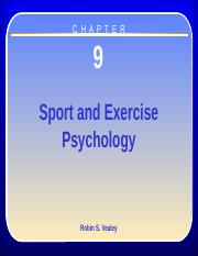 Chapter 9 - Sport and Exercise Psychology (1)