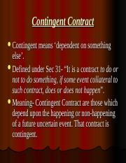 5f693Contingent Contract.ppt