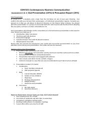 DRAFT - COM101_Assessment 2_Persuasive Report and Presentation Outline.docx