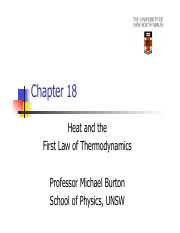 02 Heat and the First Law of Thermodynamics