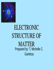 Electronic structure of matter grade 9ppt electronic electronic structure of matter grade 9ppt electronic structureof matter prepared by t michelle c gamboa atomicstructure ofmatter history of the ccuart Gallery