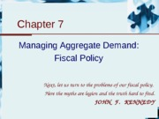7.Aggregate Demand and Fiscal Policy