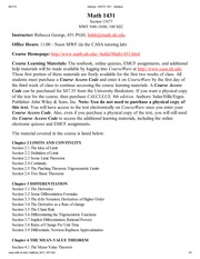 George - MATH 1431 - Syllabus